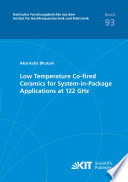 Low Temperature Co Fired Ceramics For System In Package Applications At 122 Ghz