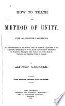 How to Teach the Method of Unity