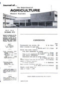 Journal Of The Department Of Agriculture Western Australia