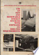 Use Of New And Renewable Energy Sources With Emphasis On Shelter Requirements Book PDF