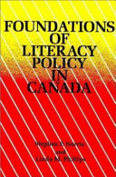 Foundations of literacy policy in Canada