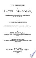 The Principles of Latin Grammar Book