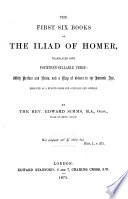 The First Six Books of the Iliad of Homer Book