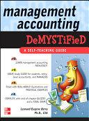 Management Accounting Demystified Pdf/ePub eBook