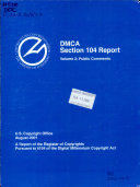 DMCA Section 104 Report: Public comments