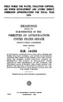 Public Works for Water  Pollution Control  and Power Development  and Atomic Energy Commission Appropriations for Fiscal Year 1970