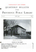 Quarterly Bulletin of the Providence Public Library