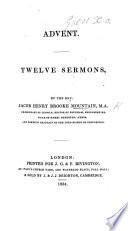 Advent. Twelve sermons