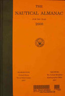 The Nautical Almanac for the Year 2008
