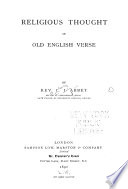 Religious Thought in Old English Verse