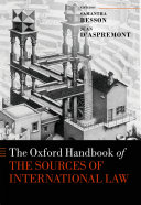 Pdf The Oxford Handbook of the Sources of International Law