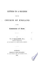 Letters To A Seceder From The Church Of England To The Communion Of Rome Book PDF
