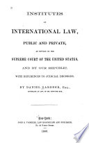 Institutes of International Law Book PDF