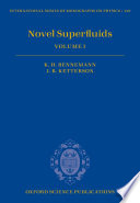 Novel Superfluids PDF