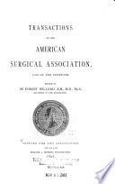 Transactions of the Meeting of the American Surgical Association