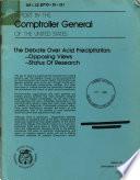 The Debate Over Acid Precipitation Book