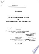 Decision-makers' Guide in Water Supply Management