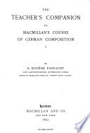 The Teacher s Companion to Macmillan s Course of German Composition  I  Book