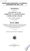 Legislative, Executive, and Judicial Appropriation Bill, 1921 ... Report (to Accompany H.R. 14100) ...