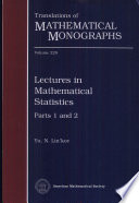 Lectures in Mathematical Statistics