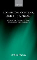 Cognition, Content, and the A Priori