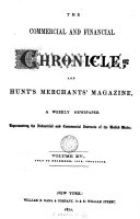 The Commercial and financial chronicle, and Hunt's merchants' magazine