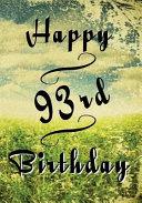 Happy 93rd Birthday
