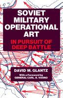 Soviet Military Operational Art Pdf/ePub eBook