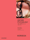Cover of Oxford Psychology Units 3+4 Workbook
