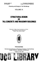 Planning and Design of Tall Buildings  Structural design of tall concrete   masonry buildings