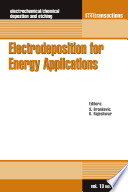 Electrodeposition for Energy Applications