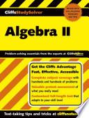 CliffsStudySolver: Algebra II