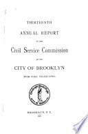 Report of the Civil Service Commission of the City of Brooklyn