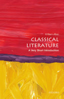 Classical Literature  A Very Short Introduction