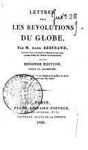Lettres sur les revolutions du globe par Alex. Bertrand ... ebook