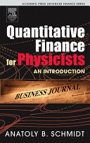 Quantitative Finance for Physicists Pdf/ePub eBook