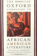The Concise Oxford Companion to African American Literature