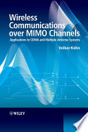 Wireless Communications over MIMO Channels Book