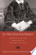 Let Her Speak for Herself