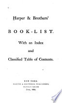 Harper & Brothers' Book-list