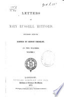 Letters of Mary Russell Mitford