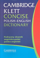 Cambridge Klett Concise Polish English Dictionary