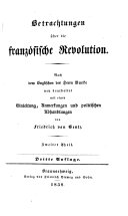 Betrachtungen uber die franzosische revolution