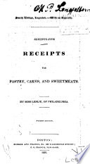 Seventy-five Receipts for Pastry, Cakes, and Sweetmeats Pdf/ePub eBook