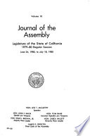Journal of the Assembly, Legislature of the State of California by California. Legislature. Assembly PDF