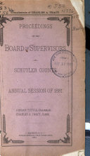 Proceedings of the Board of Supervisors of the County of Schuyler