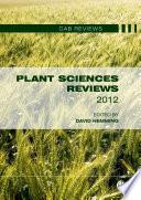 Plant Sciences Reviews 2012 Book