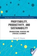 Profitability  Productivity  and Sustainability