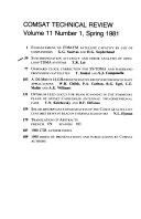 Comsat Technical Review