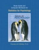 Study Guide and Computer Workbook for Statistics for Psychology
